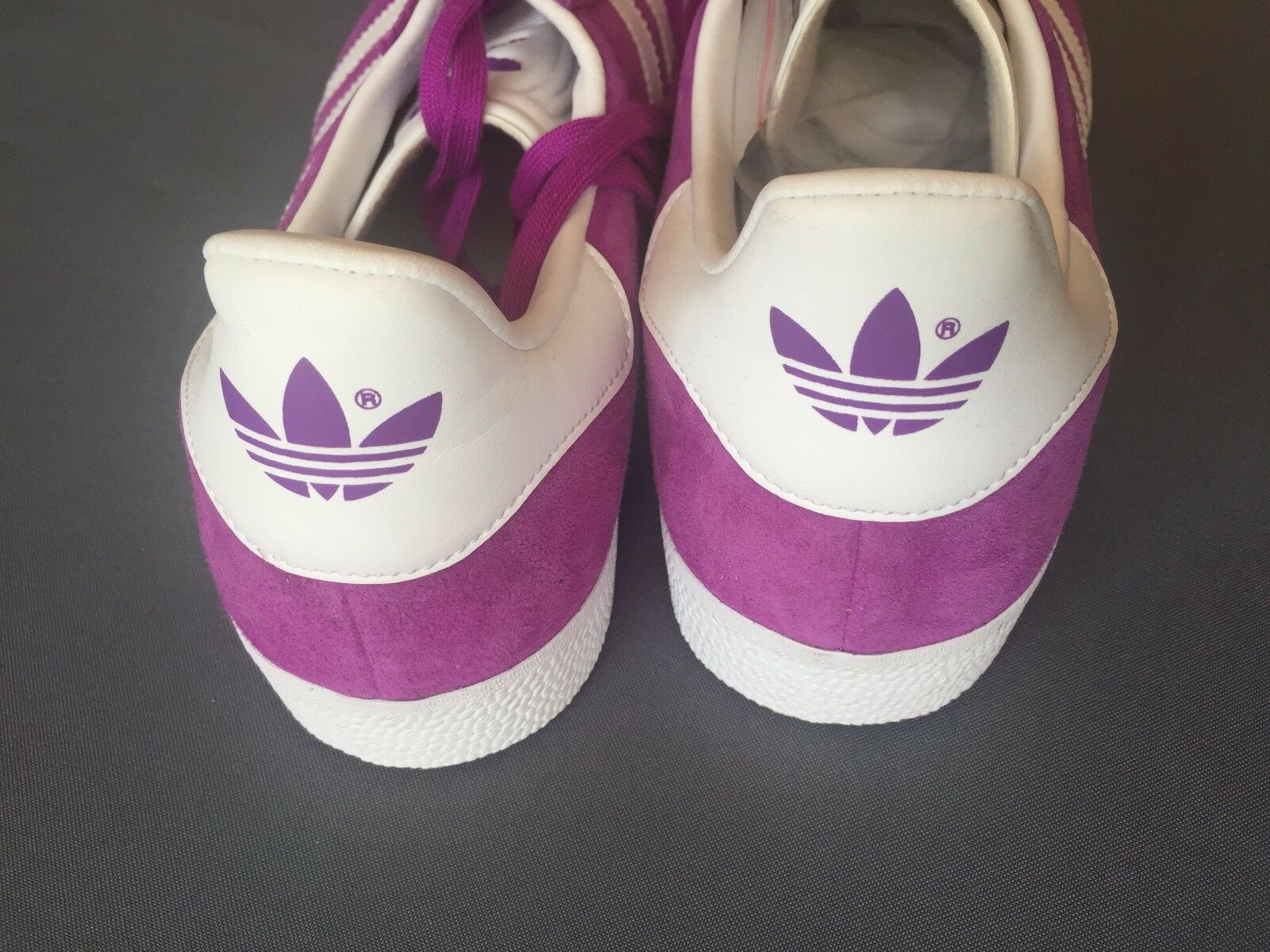 5+ 5 Adidas BB5484 Original Gazelle Purple White Trainers shoes shoes shoes Shock MENS 5635d7