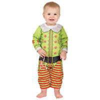 Faux Real Infant Christmas Elf Size 6 Months Ugly Christmas Sweater Romper