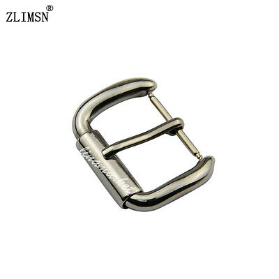 18 20 21 Stainless Steel Polished Watch Band Strap Silver Pin Buckle Repair Part
