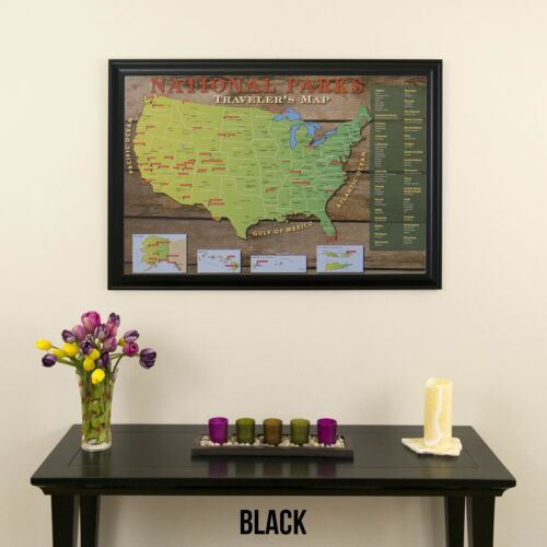 Great Gift Idea Track Your Travels National Parks USA Travel Map with Pins