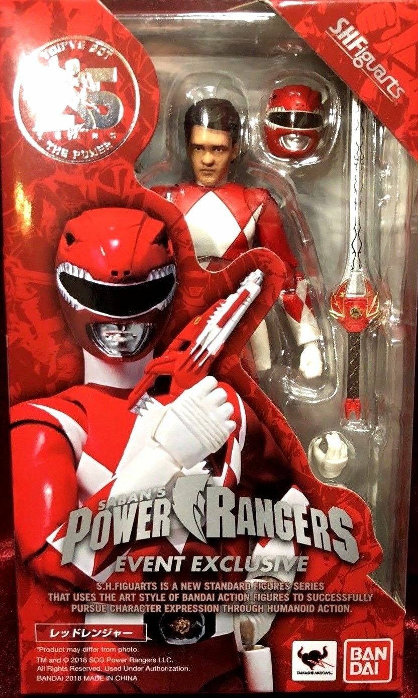 SIGNED SDCC 2018 Tamashii Nations Exclusive ROT Ranger Unmasked Figuarts Figure