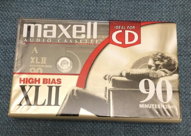 Maxell XL II 90 Cassette Tape Type II Black Magnetite New - High Position