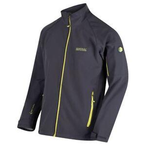 Regatta-Homme-Nielson-Vent-Resistant-Softshell-Chaud-Outdoor-Veste-De-Travail-Gris