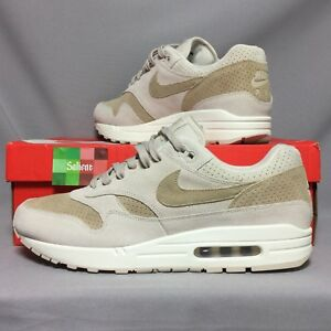 4ba6931c70143 Nike Air Max 1 Premium UK11 875844-004 EUR46 US12 Sand Sail suede ...