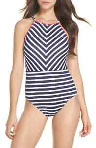 27e00cd281 Tommy Bahama 1508 Womens Navy Breton Stripe One-Piece Swimsuit Size ...