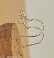 WHOLESALE Sterling 925 Silver Plated 50pc 18mm Earring Hooks Ear Wires !!!!!!