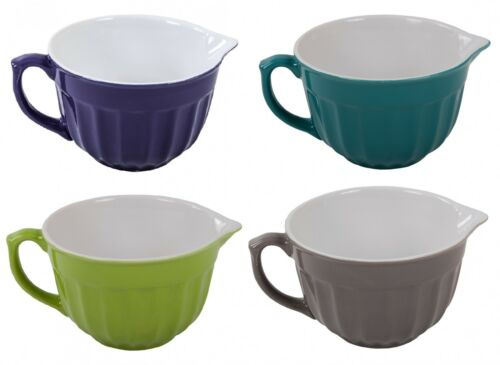 Keramik Rührschüssel Teigschüssel Servierschüssel Salatschüssel Obstschüssel neu