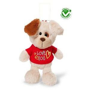 Nici-Valentines-Dog-T-Shirt-039-Love-You-039-Dangling-22-cm-Plush
