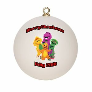 personalized barney friends christmas ornament ebay