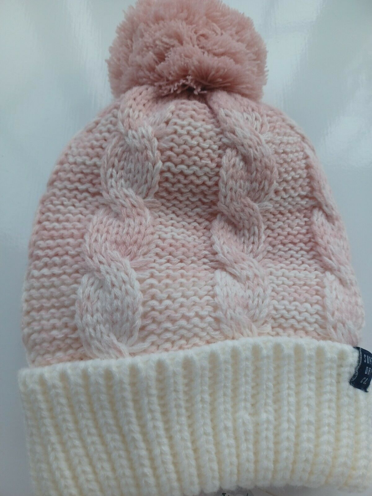SUPER DRY PINK AND CREAM HAT LADIES - NEW WITH TAG
