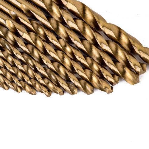 Haute Vitesse Acier Haute Vitesse Acier Revêtement Titane forets queue Set Outil 1.5-6.5mm BE