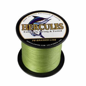 Hercules-Army-Green-100-2000m-Test-10-300lb-4-8-Strands-Sea-Braided-Fishing-Line