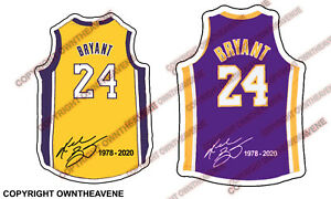 Details about KOBE BRYANT #24 BASKETBALL VINYL JERSEY STICKER CAR DECAL LAPTOP BUMPER PACK LOT