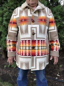 PENDLETON Native Indian Pattern Coat Jacket Chief Joseph Men's Sz. 46 No Reserve