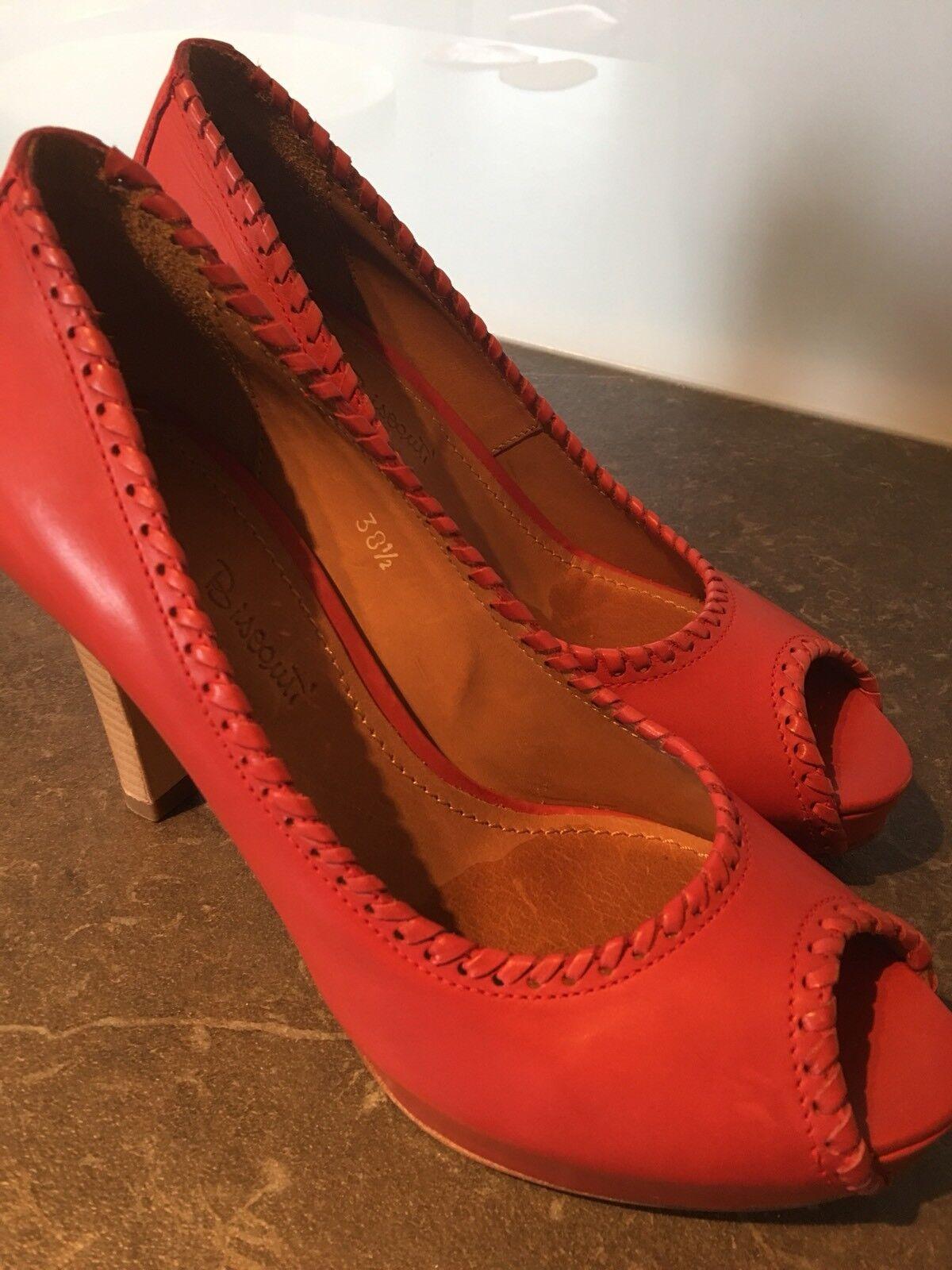 Rossano Bisconti - rote wunderschöne sexy rote - Peep-Toes für den Sommer Gr. 38,5 cf5160
