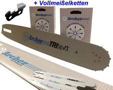 2x Sägekette Vollmeißel + Schwert p.für Husqvarna 346 346xp Kette für Motorsäge