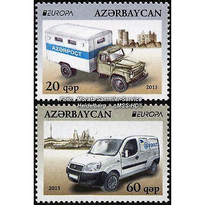 Aserbaidschan Azerbaijan Europa Cept 2013, Postfahrzeuge, Satz ** Komplett GroßEs Sortiment