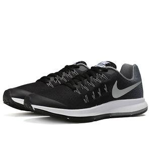 844fa6e2d93 Nike Zoom Pegasus 33 (GS) Black Metallic Silver Cool Grey Wolf Grey ...