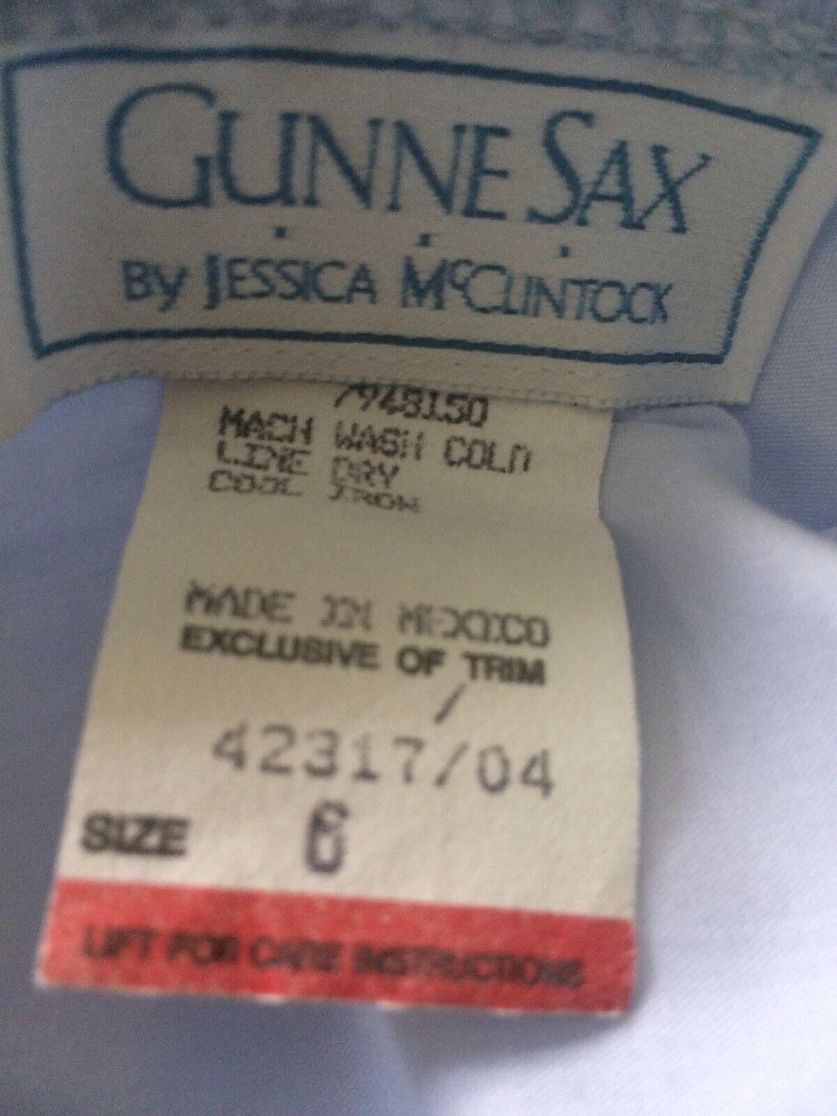 Vtg Gunne Sax Jessica McClintock Blue Lace 70s 80… - image 3