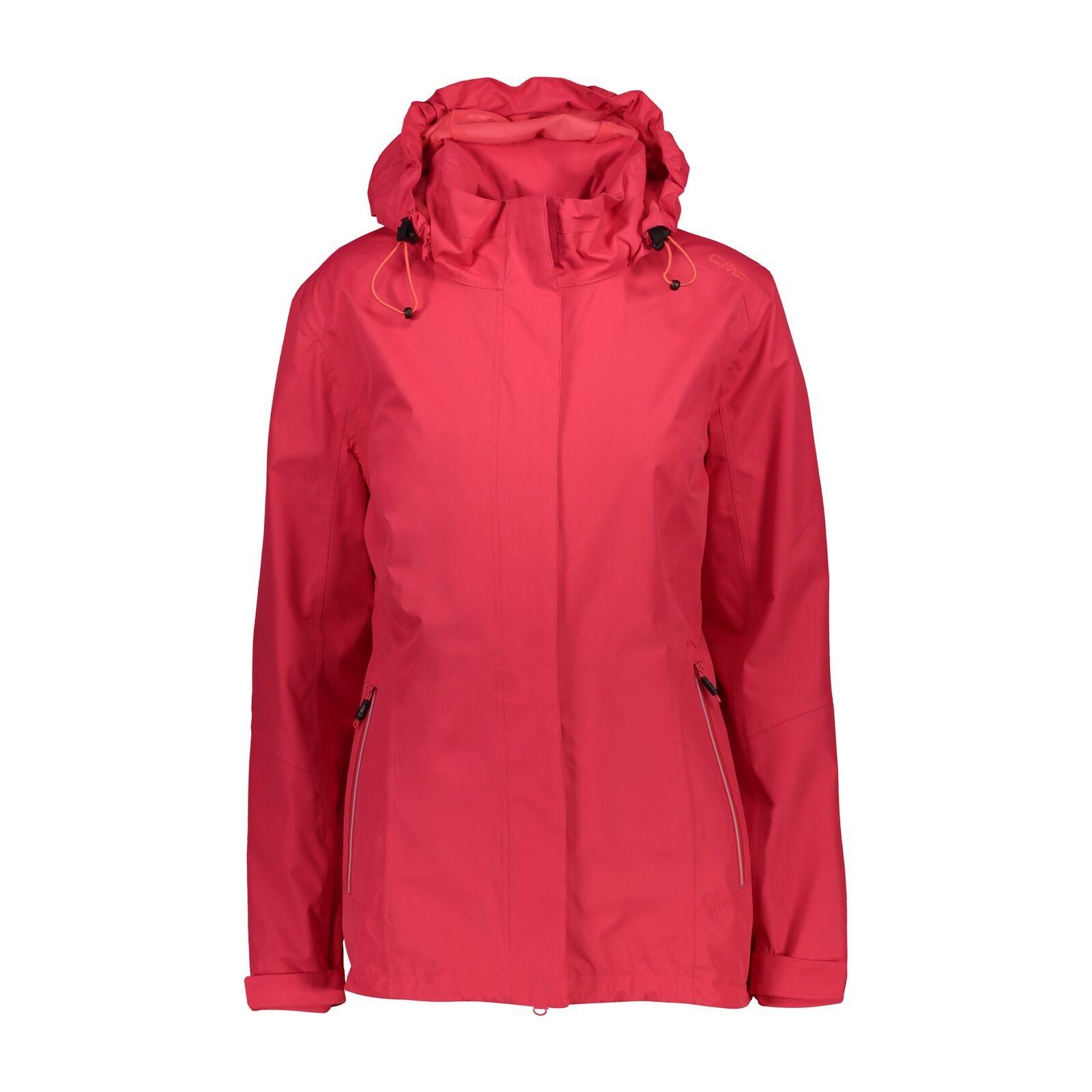 CMP Giacca Giacca donna Jacket Zip Hood Rosso Vento di tenuta impermeabile Tinta