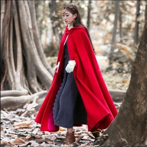 Manteau à laine en rouge Parka capuche avec Outwear mélangée capuche Manteau long XTwq56zn