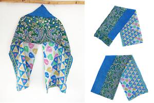 Vintage-Kantha-Scarf-Cotton-Sari-Stole-Indian-Handmade-Women-Dupatta-Neck-Wrap
