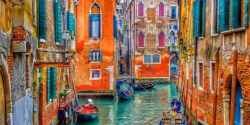 Venedig Venezia y00515 Wand Deko Leinwand Bilder
