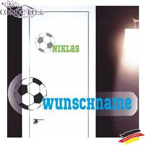 Details Zu Fussball Wandtattoo Wunschname Fussball Kinderzimmer Turaufkleber Kindername Deko