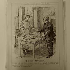 "7x10"" punch cartoon 1925 THE NEW INQUISITION wireless telegraphy bill"