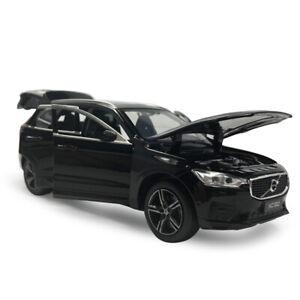 XC60-2019-SUV-1-32-Die-Cast-Modellauto-Spielzeug-Sammlung-Pull-Back-Schwarz
