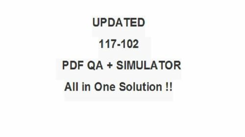 LPI LPIC-1 General Linux Level 1 Part 2 102 Test 117-102 Exam QA PDF/&Simulator