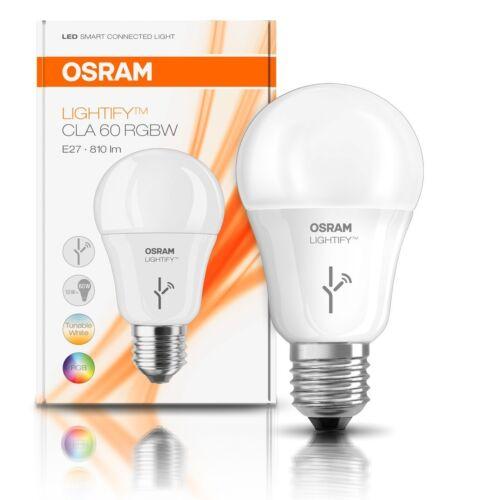 Osram Lightify RGBW Smart Home Leuchtmittel 10W = 60W E27 matt RGB warm kalt DIM