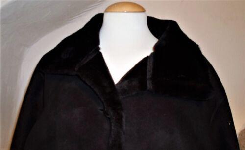 Faux Suede Coat Fantastic Giorgio Size 48 faux maat zwarte Long L Suede lange L jas Black '' Giorgio Fantastische 52'' 52 48 borst Chest qHWTSwxYYp