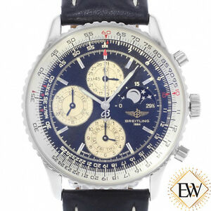 Details About Breitling Navitimer 1461 A19022 Chronograph Perpetual Calendar Moon Watch Le 250