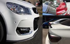 Toyota Yaris Echo Carbon Fiber Look Front Bumper Lid & Rear Boot Spoiler Lip