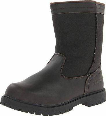 Khombu CANAAN Mens Brown Waterproof Winter Snow Side Zipper Boots