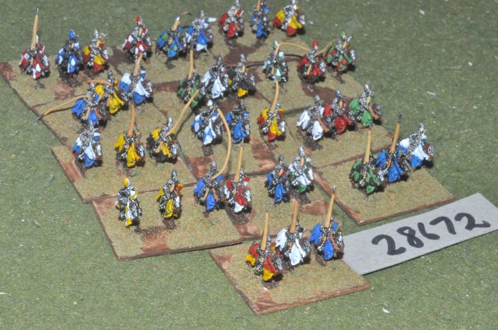 10mm medieval   french - 100yrs war knights 39 figures - cav (28672)