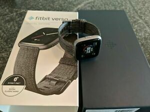 Details about Fitbit FB505BKGY Versa Special Edition - Charcoal
