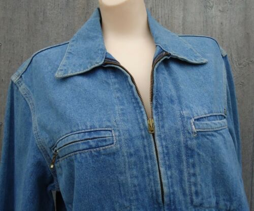 NOS vtg Blue Denim Osh Kosh S 1987 Zip Up Jacket O