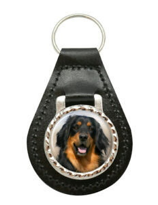 Hovawart-Chien-Cuir-Cle-Fob