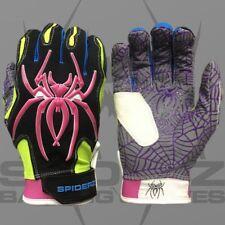 """Spiderz HYBRID Batting Gloves """"WHACKD"""" YOUTH XL, new"""