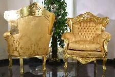 Poltrona in stile barocco finitura in foglia oro