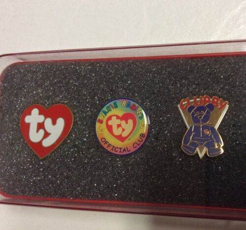 Ty Beanie Baby Set of 5 Pins Splash Patriot Clubby Official Club TY