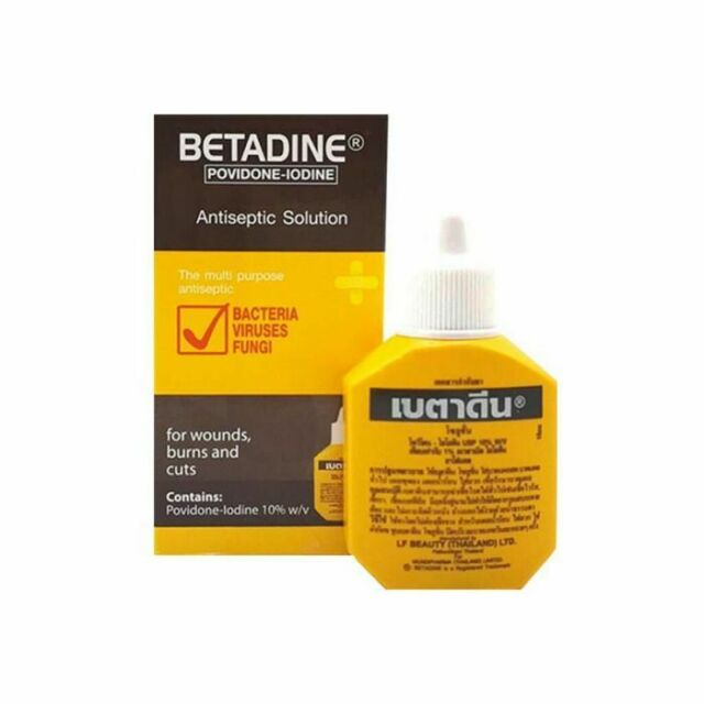 BETADINE POVIDONE-IODINE Antiseptic Solution First Aid Cuts Wounds Cuts  Burns