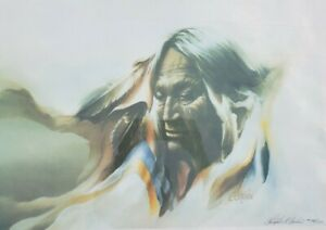 Hand Signed Christopher Cardin Ltd Ed 194/575 Touch the Earth Cherokee Art Print