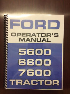 Ford-5600-6600-7600-Tractor-Operators-Manual-Owners-Manual-Supplement