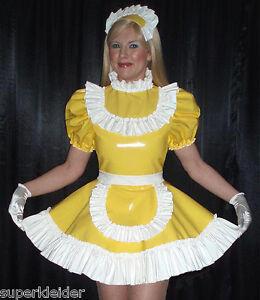 Chambre Dress Sur Pvc Femme Satin Sissy Ruffles Deluxe Transgenre Szk041 Mesure De FwUSqx