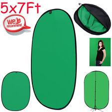 5x7' Lightweight Reversible Collapsible Popup Green BlackScreen Background