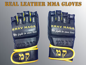 KRAV-MAGA-MMA-GLOVES-BEST-QUALITY-REAL-LEATHER-VERY-RARE