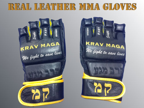 KRAV MAGA MMA GLOVES VERY RARE BEST QUALITY REAL LEATHER